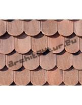 Roof tiles N°11 flat scales Biberschwanz